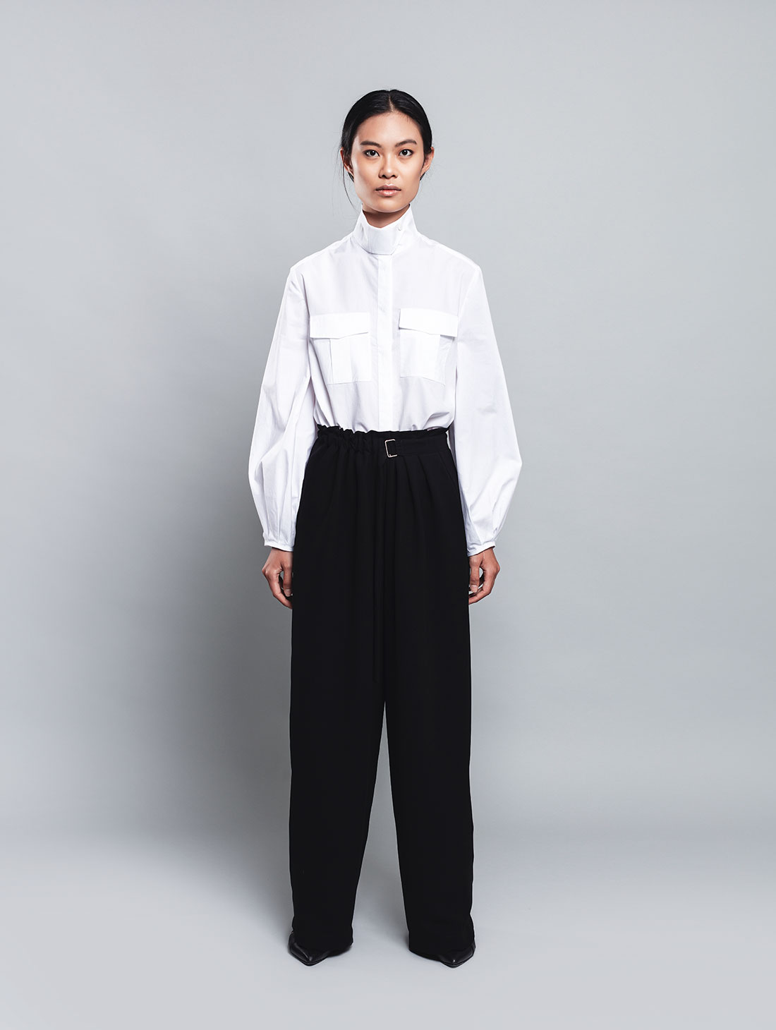 Rigel – Pantalone Nero in Microfibra, Gamba Morbida